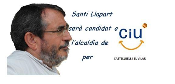 Santi Llopart i bernad sera candidat a l´alcaldia de Castellbell i el Vilar per CiU