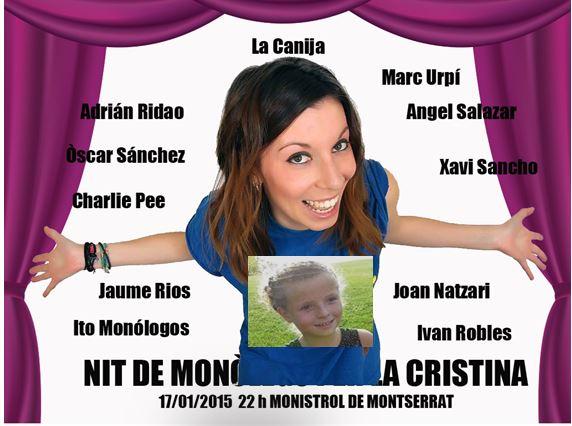 Monistrol acull aquest dissabte una nit de monòlegs per la Cristina