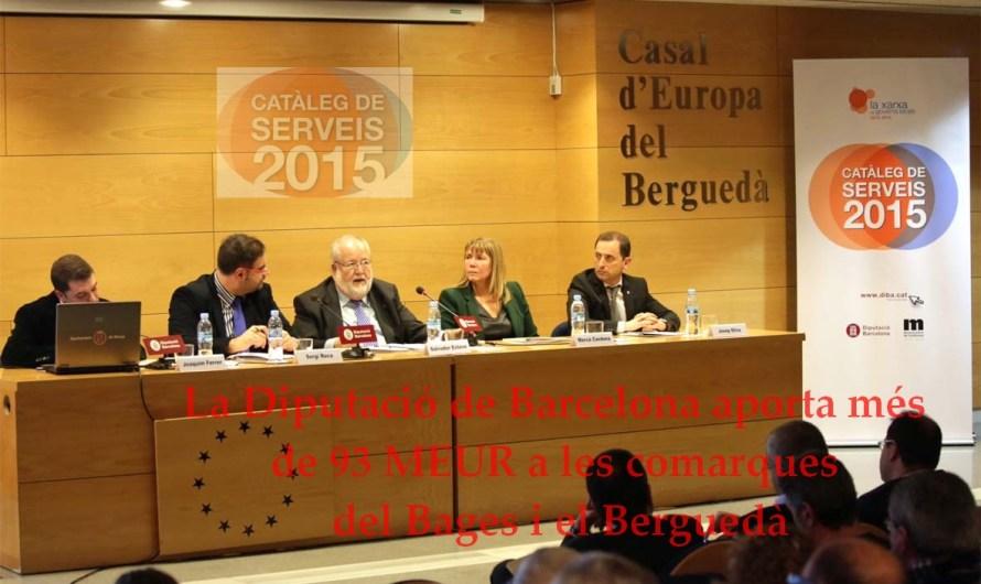 La Diputació de Barcelona aporta més de 93 MEUR a les comarques del Bages i el Berguedà