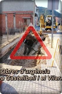 Obres d'urgència a Castellbell i el Vilar.