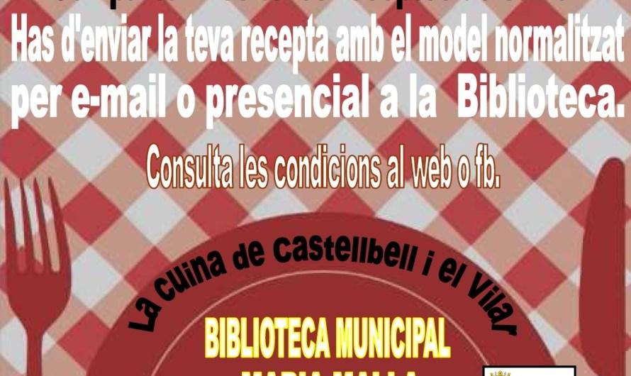 La Biblioteca de Castellbell i el Vilar cerca les receptes de cuina pròpies del municipi de Setmana Santa
