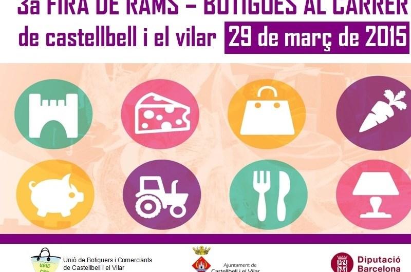 El comerç de Castellbell i el Vilar surt al carrer diumenge en el marc de la 3a Fira de Rams