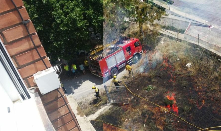 Cremen uns metres de matolls a uns terrenys de Teyco, a Castellbell i el Vilar
