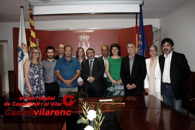 Els 11 regidors del mandat 2015-19 Foto : Pere Sánchez