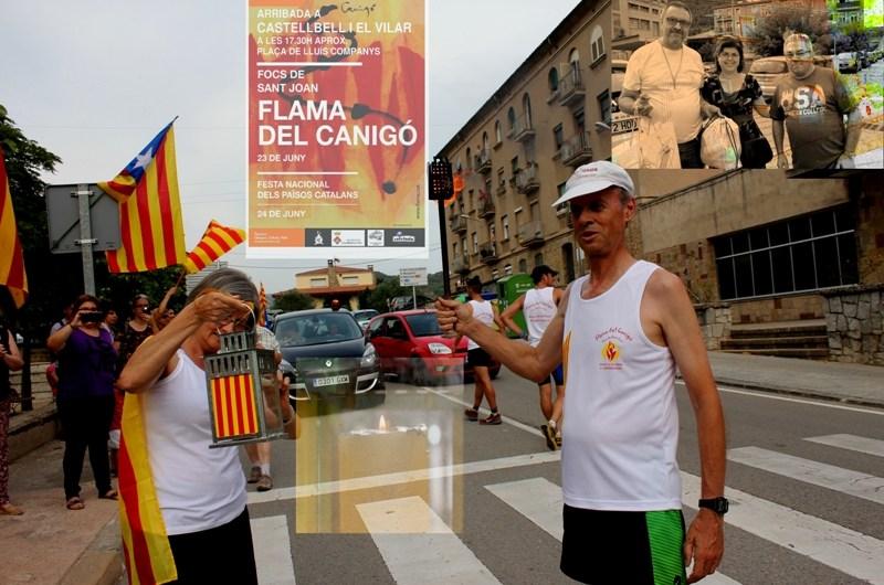 La Flama del Canigó porta la tradició d´encendre la foguera de sant Joan, a Castellbell i el Vilar.