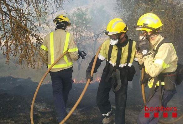 Estabilitzat un incendi que s'ha produït aquesta tarda entre Artés i Calders.