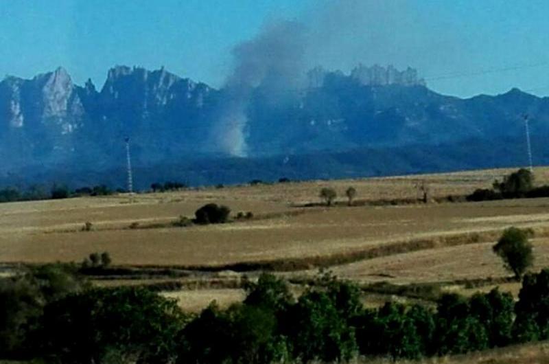 Controlat el incendi forestal que des de les set de la tarda ha cremat 4 hectàrees a Marganell