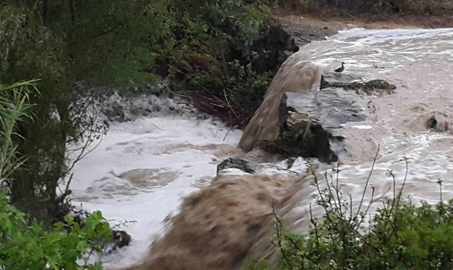 Les fortes plujes d' aquesta tarda causes desperfectes a Castellbell i el Vilar