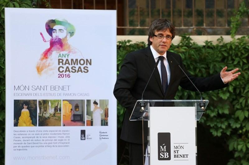 """President Puigdemont: """"Hem d'estar a l'alçada del llegat de Ramon Casas, compromès amb la modernitat i la responsabilitat social"""""""