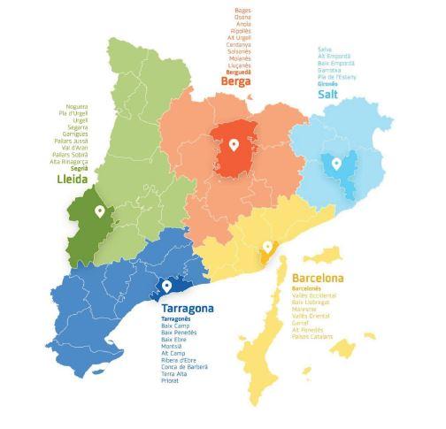 Mapa llocs mobilitzacions