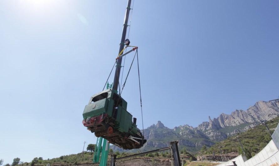 Monistrol de Montserrat recupera la màquina de vapor num 4 de l'antic cremallera.