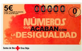 Llista dels numeros premiats del Sorteig de la Creu Roja.