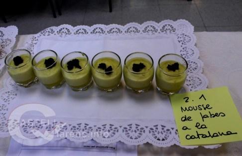 Mousse de fabes a la Catalana
