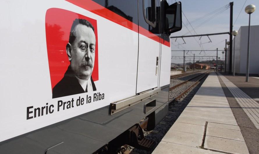 Ferrocarrils de la Generalitat bateja a Manresa una de les noves unitats 213 amb el nom de Prat de la Riba