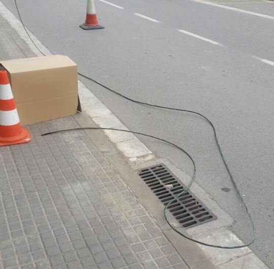 Cau un cable elèctric a la Bauma (Castellbell i el Vilar)