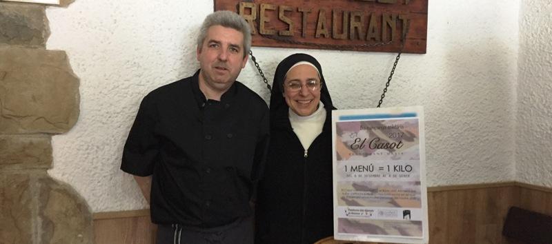 El restaurant Masia el Casot de Marganell entrega 630 kg d'aliments a la Plataforma d'Aliments de la Fundació Rosa Oriol