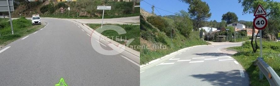 Instal·len bandes transversals d'alerta (BTA) a la Vall de Montserrat Castellbell i el Vilar.