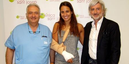 Operada amb èxit a Manresa la waterpolista catalana Anni Espar