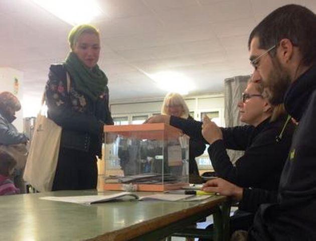 Biel Olid votant a Castellbell