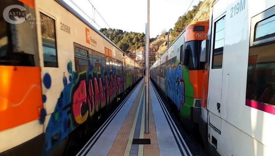 Un comboi de Rodalies RENFE, s'avaria a Vacarisses i arriba amb una hora de retard a Castellbell i el Vilar