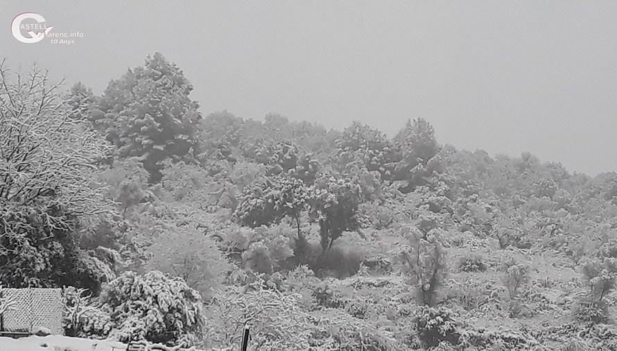 La neu cau a Castellbell i el Vilar.