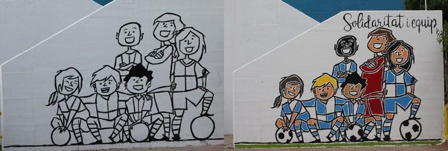 """Castellbell i el Vilar fa un nou mural sobre """"els valors de l'esport"""""""