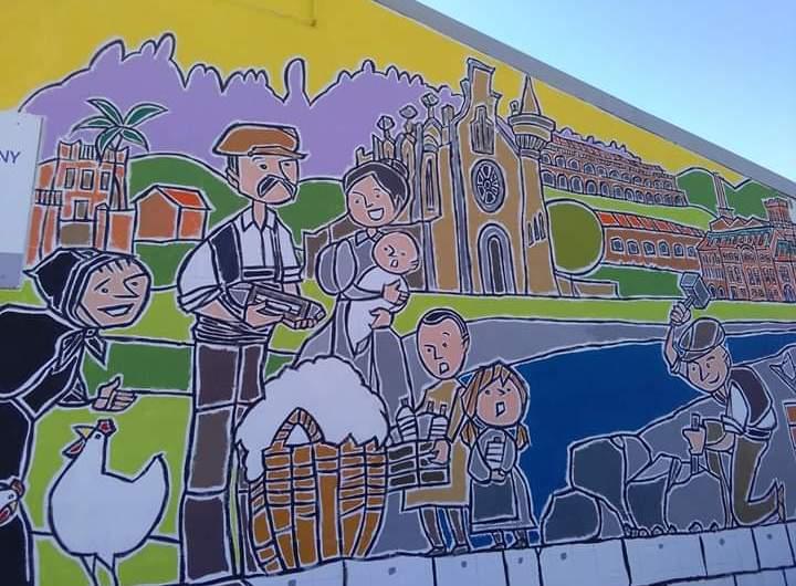 Nou mural per la convivència a la Bauma