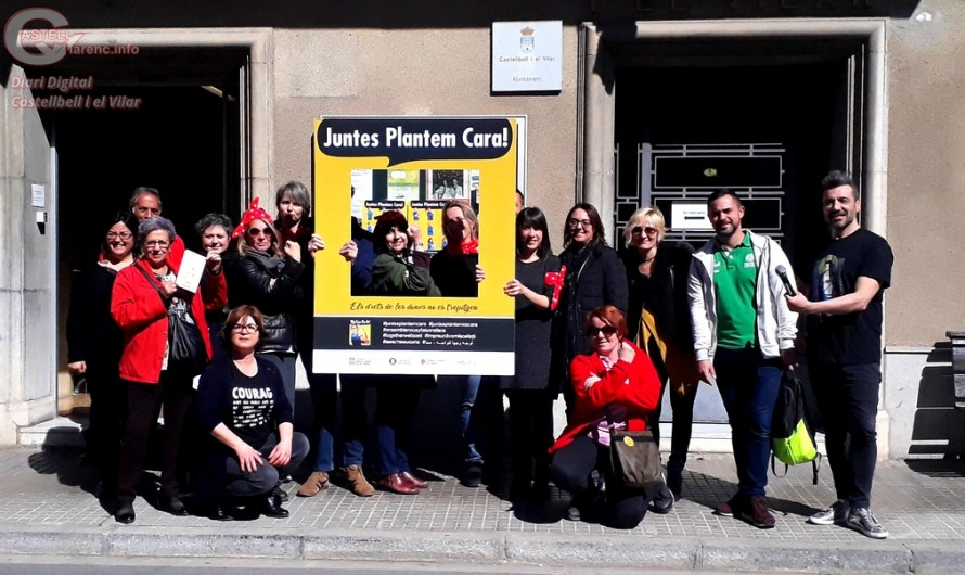 Treballadores de l'Ajuntament de Castellbell i el Vilar es concentren pel dia de la dona.