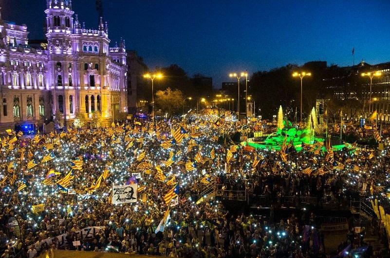 L'independentisme es manifesta a Madrid