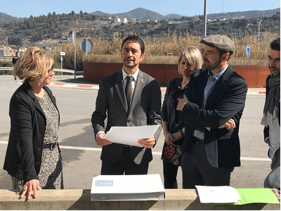 El conseller Calvet anuncia un conveni amb l'Ajuntament de Sant Vicenç de Castellet per impulsar un nou vial entre el polígon les Vives i la C-55