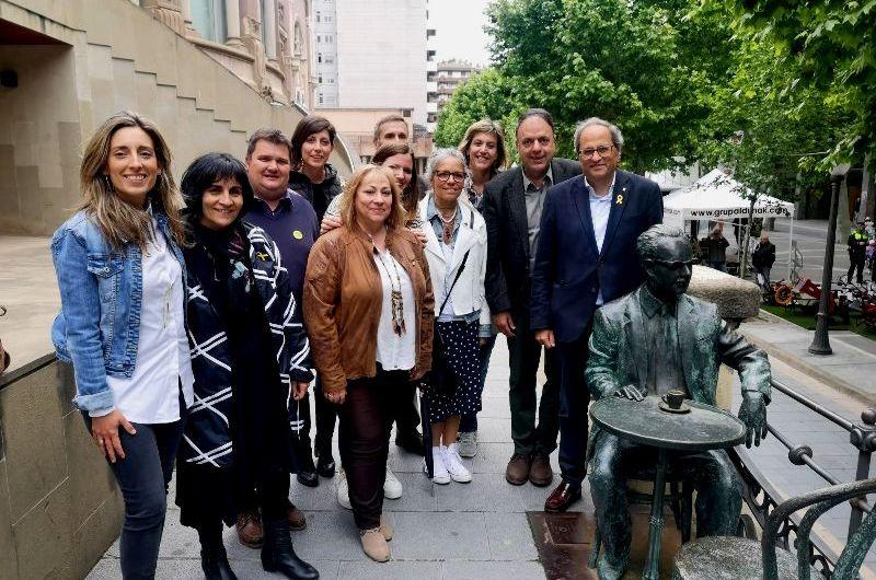 El President Quim Torra visita Manresa i encoratja a Valentí Junyent a tornar a guanyar les eleccions