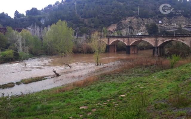 Important crescuda del riu Llobregat