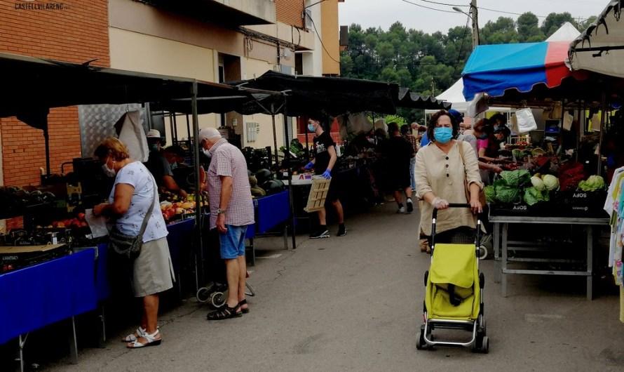 Redueixen l'aforament al mercat setmanal de Castellbell.