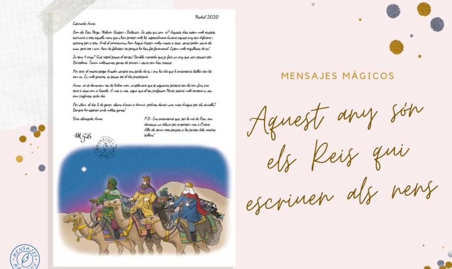Els reis mags escriuen una carta als nens i nenes i demanen això:
