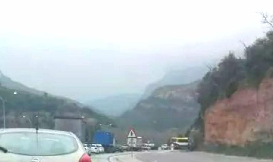 Lleu accident a la C-55, a Castellbell i el Vilar.