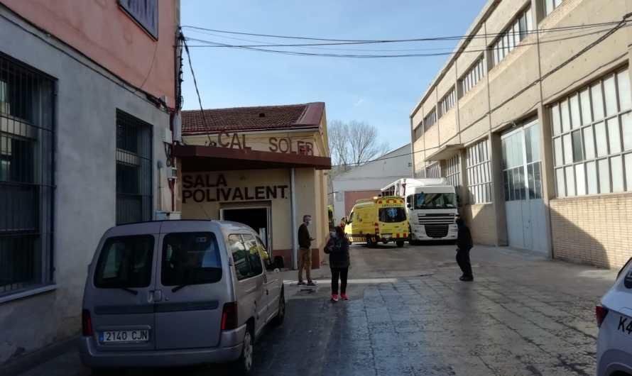 Un operari ferit a Sant Vicenç de Castellet.