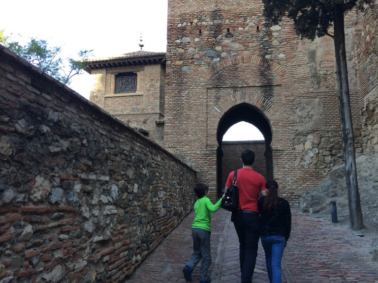 Entering the Alcazaba