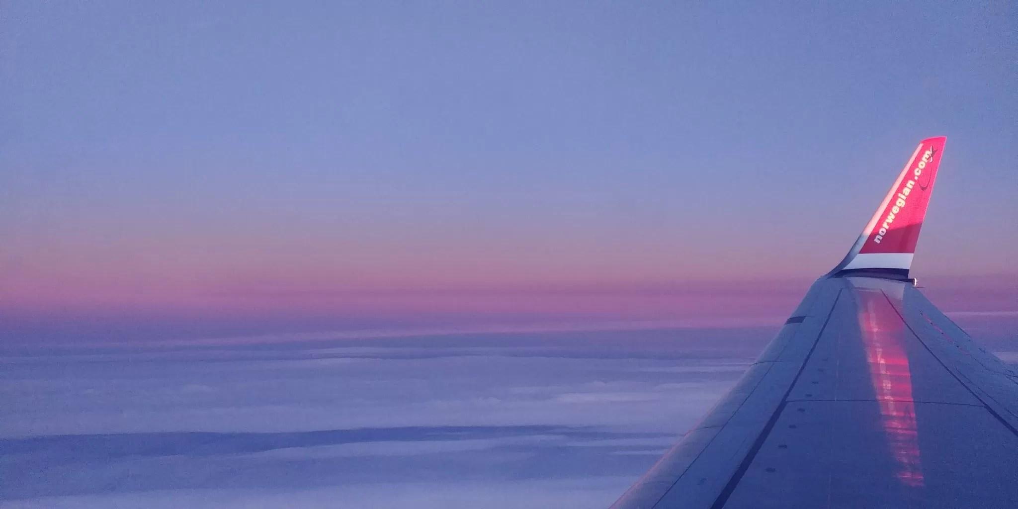 volando a Noruega
