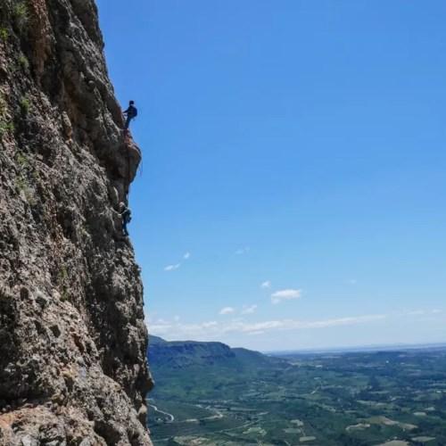 Escalada en roca. Peña Rueba. Casteret guías