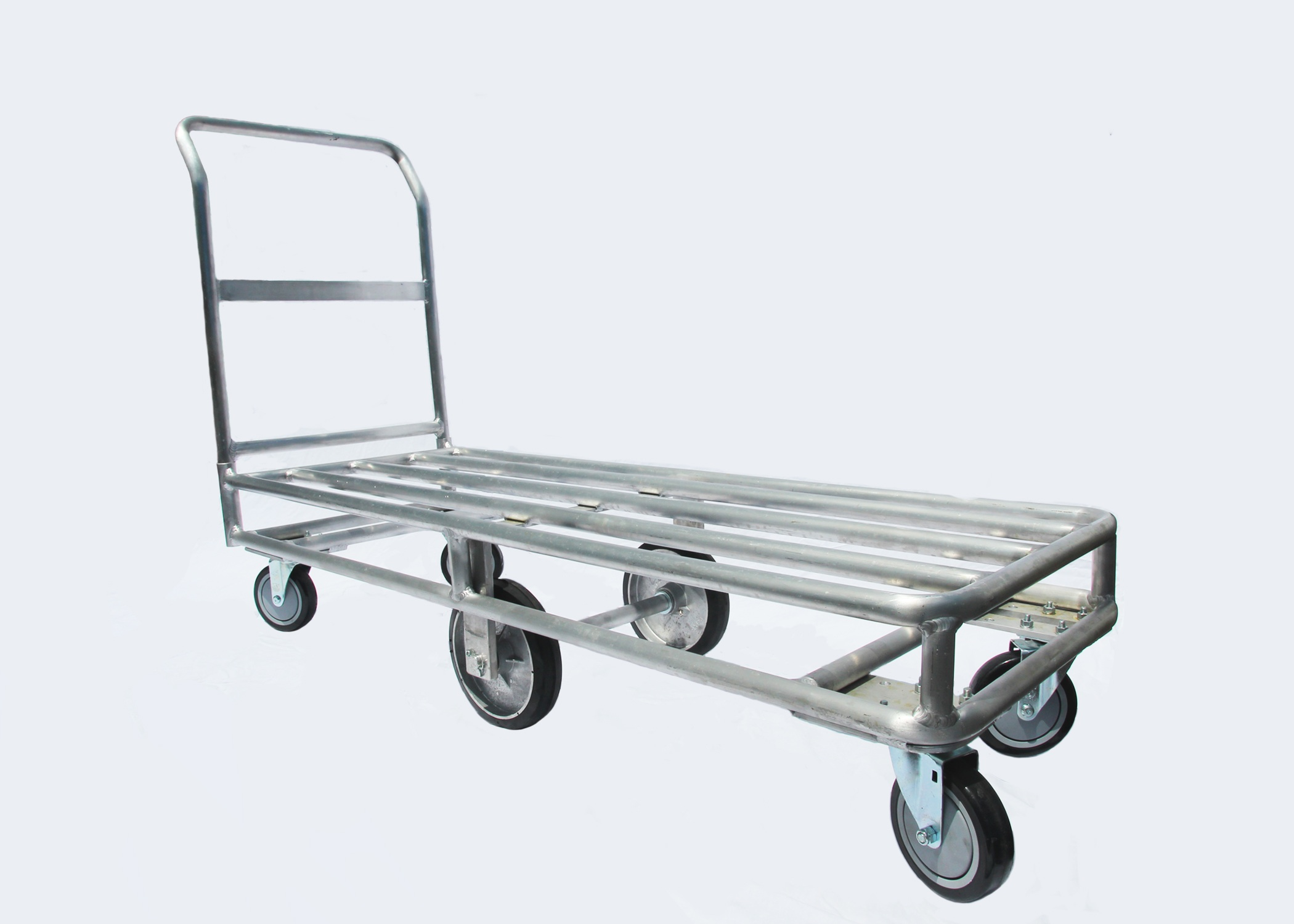 6 Wheel Aluminum Carts Stocking Carts Replacement Casters