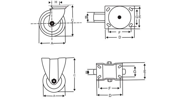 Caster Wheel Manufacturer, Caster Wheel Supplier, Caster