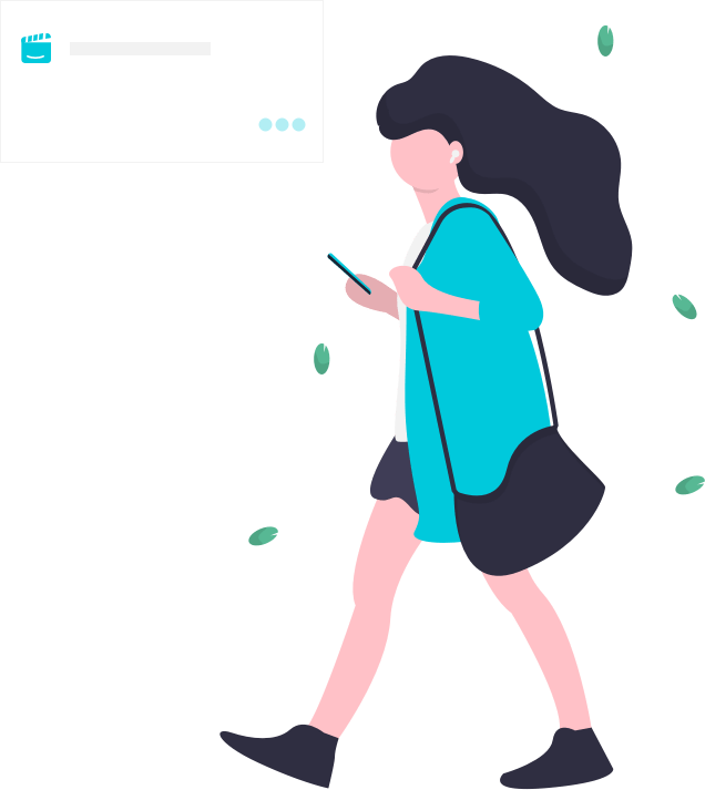 Busy Woman Walking and Texting