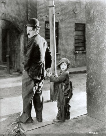 Charlie Chaplin and Jack Coogan