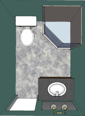 Bathroom Remodel Sketch for Springfield Bath
