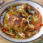 Simple Roasted Chicken In The Dutch Oven Cast Iron And Wine