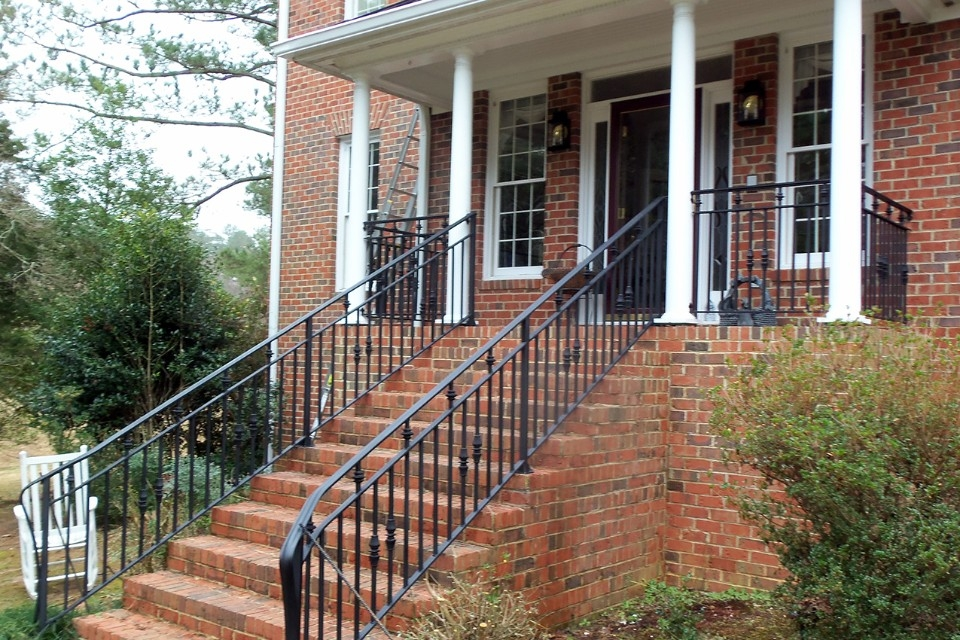 Improve The Value Of Your Home With Custom Iron Railings Cast | Iron Handrails For Steps | Minimalist Simple Stair | Double Basket | Contemporary | Horizontal Farmhouse | Outdoor