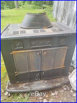 Franklin Wood Burning Stove Fireplace