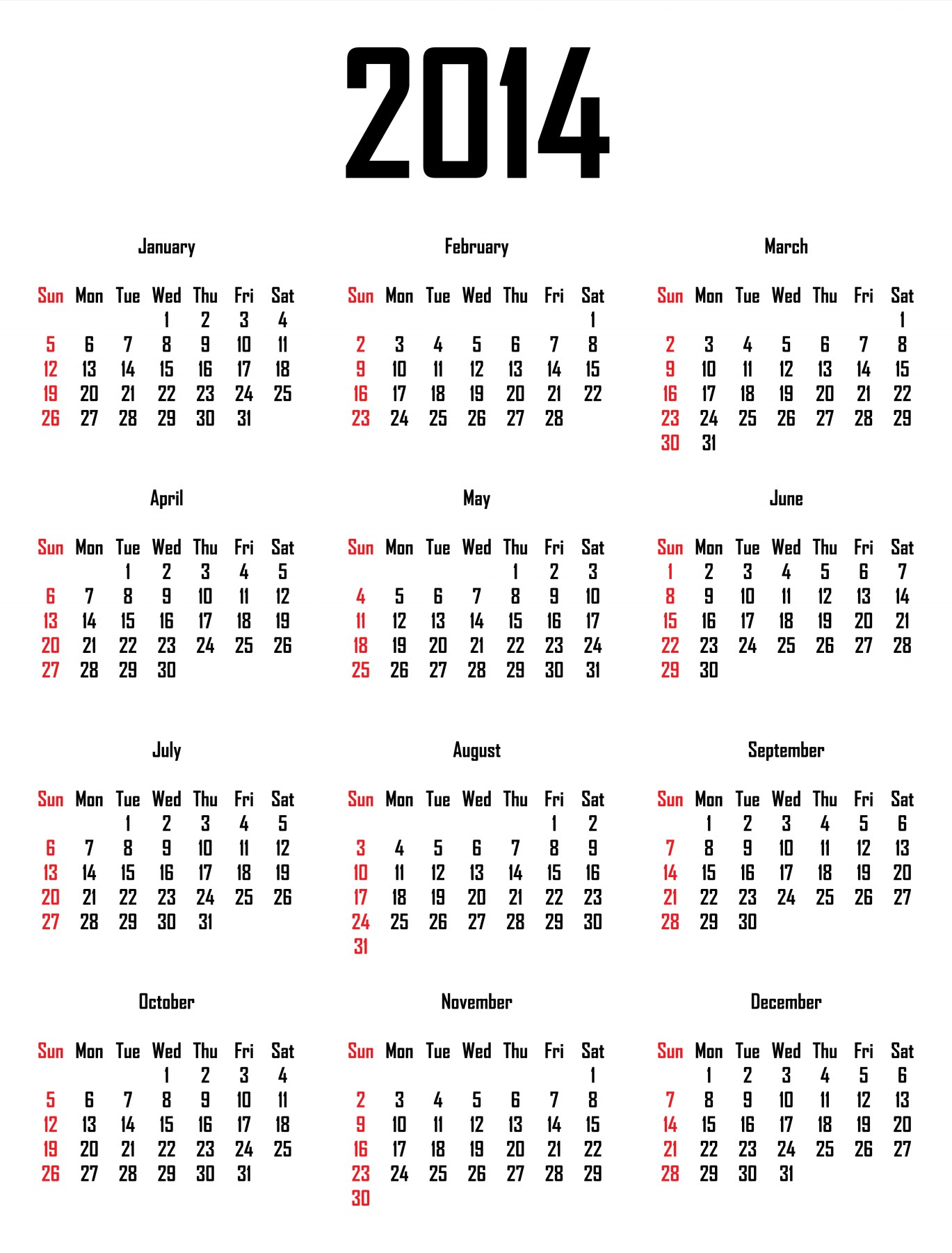pto calendar template 2013