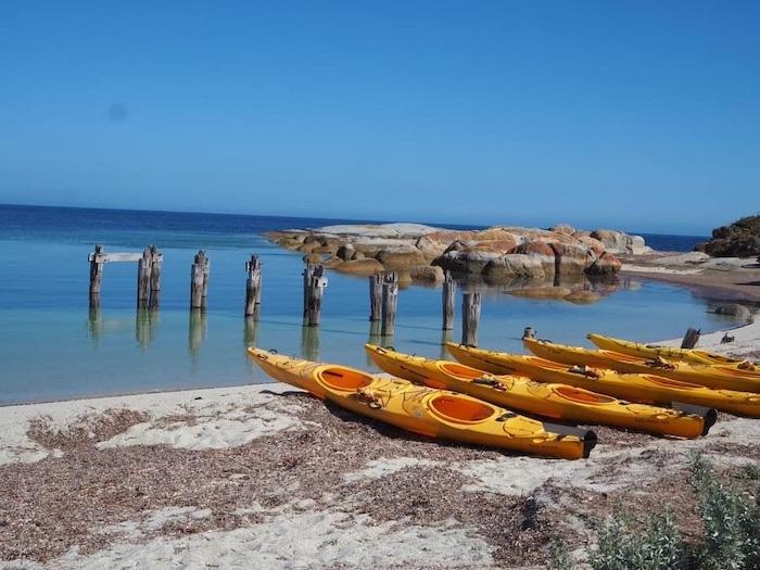 Outside Castle Cottage Flinders Island