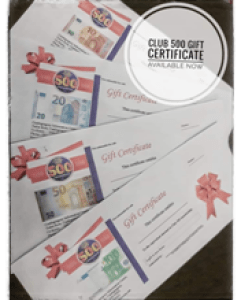 Club 500 Gift Certificates